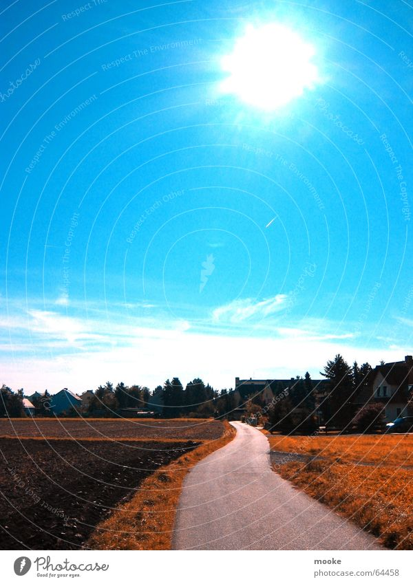 A way Blue Sun Sky Lanes & trails Vacation & Travel