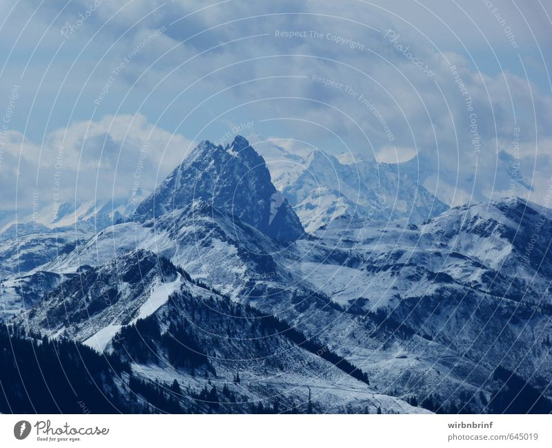 the mountain calls..... Vacation & Travel Tourism Winter Snow Winter vacation Mountain Nature Clouds Snowfall Alps Peak Snowcapped peak Relaxation Exterior shot
