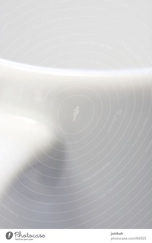 white soft curves White Cup Pottery Light Abstract Round Organic Edge Material Curved Macro (Extreme close-up) Crockery Bright Structures and shapes Shadow Arch