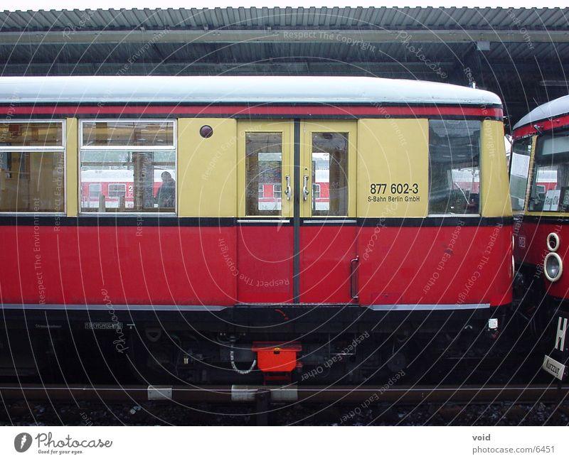 suburban train Red Railroad Berlin