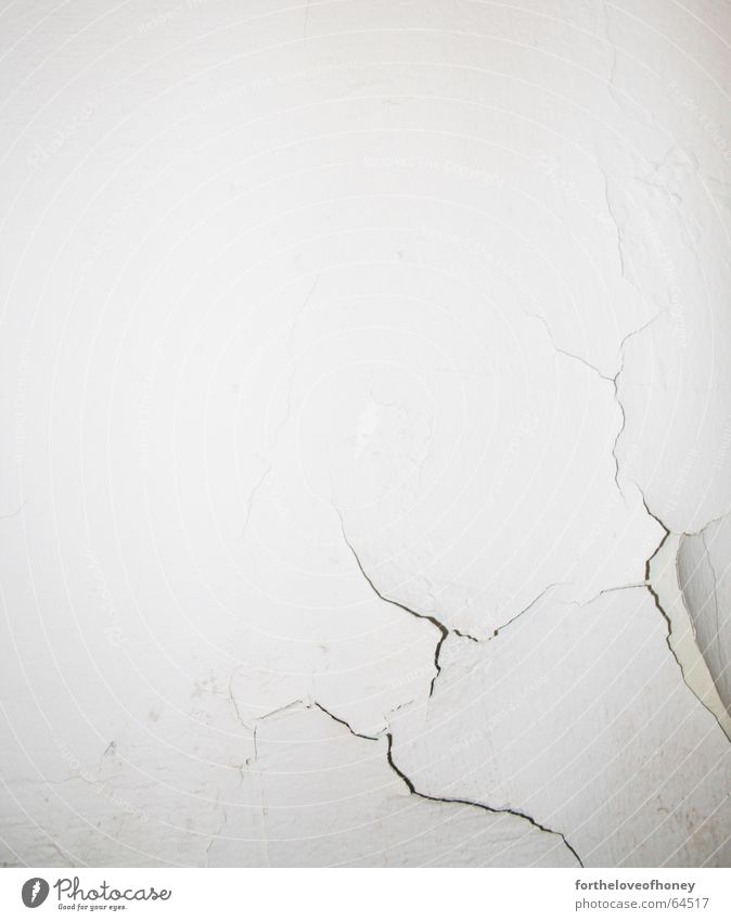 wall with a crack Fine Wall (building) White Background picture Broken Interior shot Crack & Rip & Tear hairline Trashy eroded Old Second-hand damaged clean