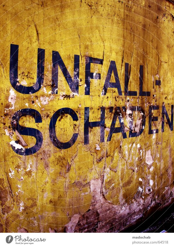 Accidental damage | typo lettering dirty trash broken letters Wall (building) Wall (barrier) Broken Dirty Industrial district Shabby Decline Social law