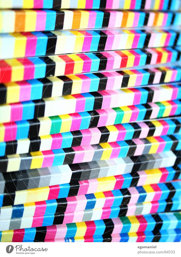 Black Yellow Colour Line Square Magazine Cyan Rectangle Magenta Media