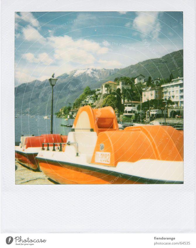Sky Vacation & Travel House (Residential Structure) Clouds Watercraft Bird Switzerland Polaroid Lantern