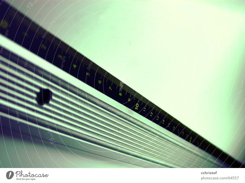 quite straight Ruler Diagonal Green Blur Millimeter wiper Line Metal centimeter