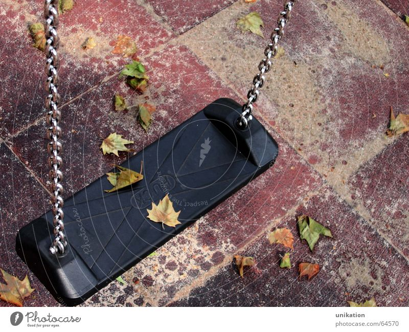 Leaf Loneliness Autumn Playing Moody Empty Romance Swing Playground