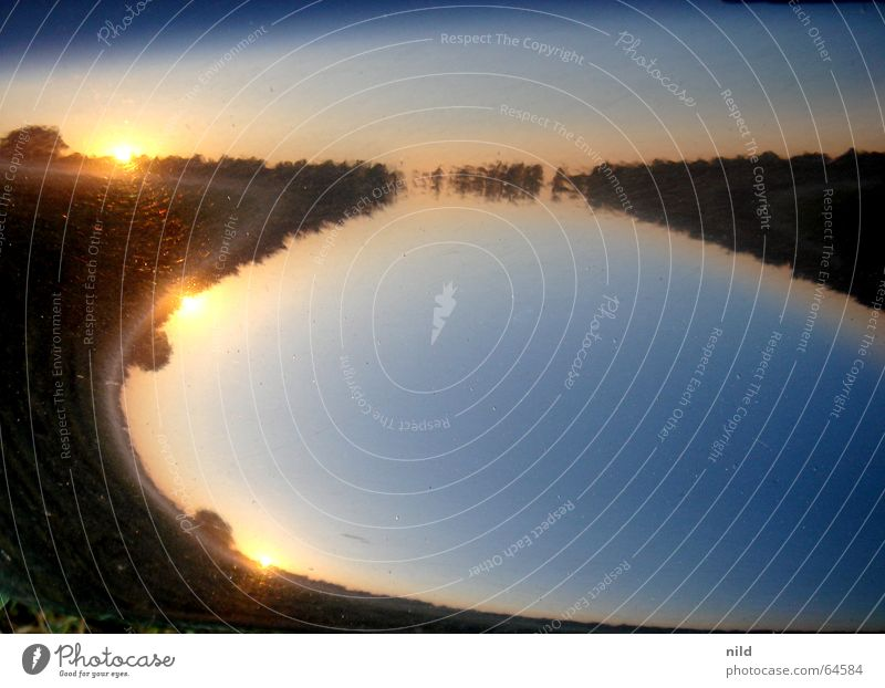 Sky Sun Calm Lake Landscape Moody Fog 3 Round Soft Beautiful weather Progress Vaulting Fender