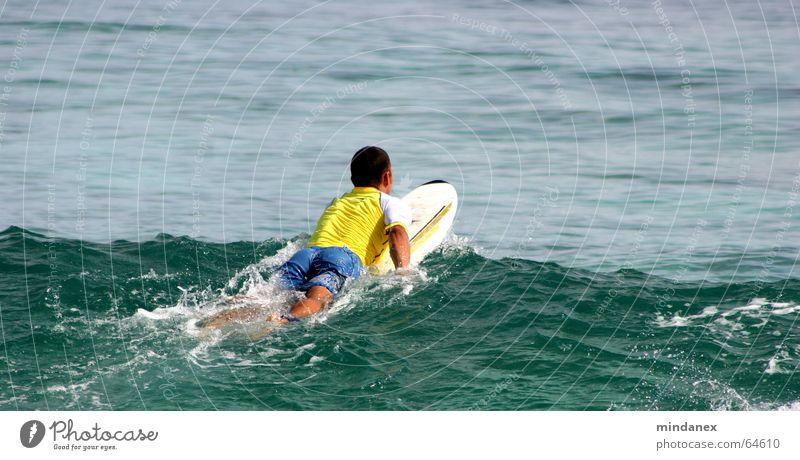 Water Ocean Green Yellow Waves Surfing Surfer