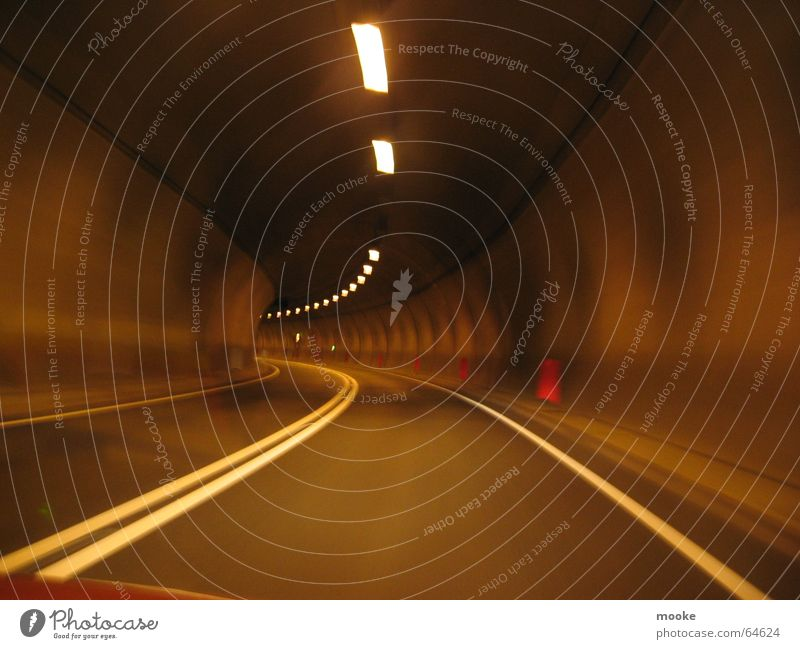 concrete tube Tunnel Concrete Dark Street