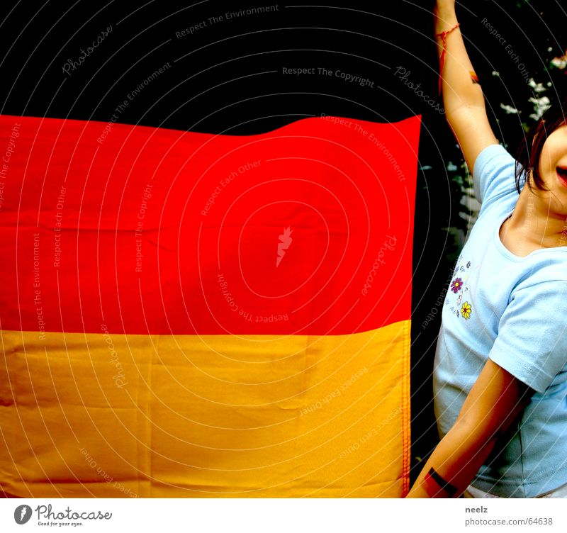 Child World Cup Germany Wind Flag Enthusiasm Patriotism World Cup 2006