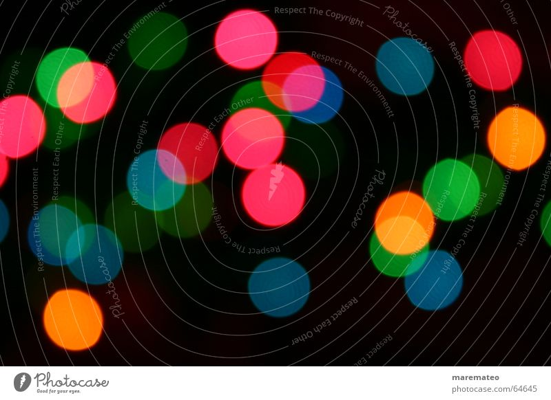 Christmas & Advent Green Blue Red Yellow Dark Moody Pink Circle Ball Light Night Point Sphere Alcohol-fueled Muddled