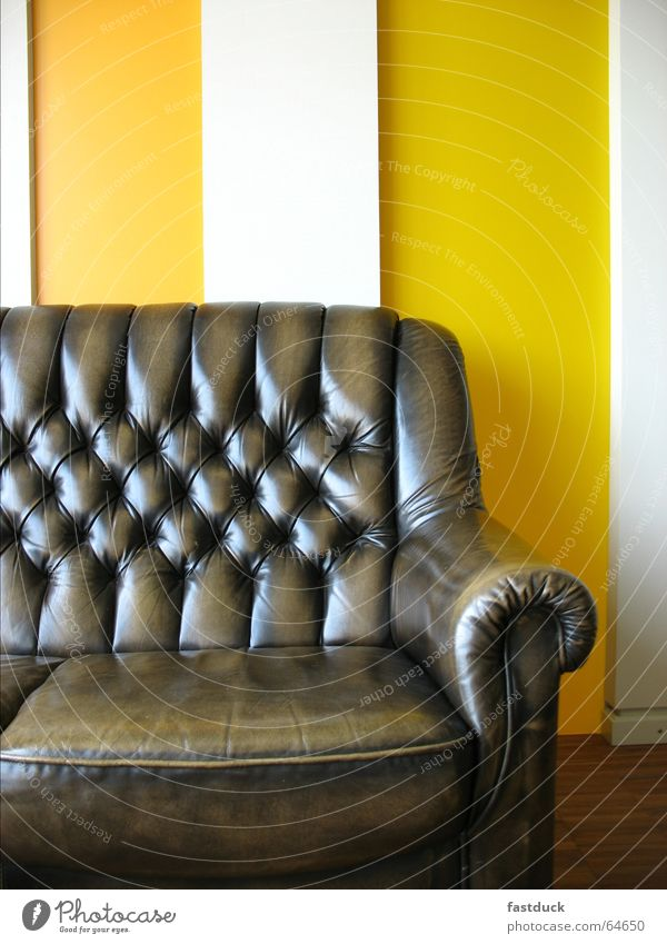 Old White Yellow Relaxation Brown New Sofa