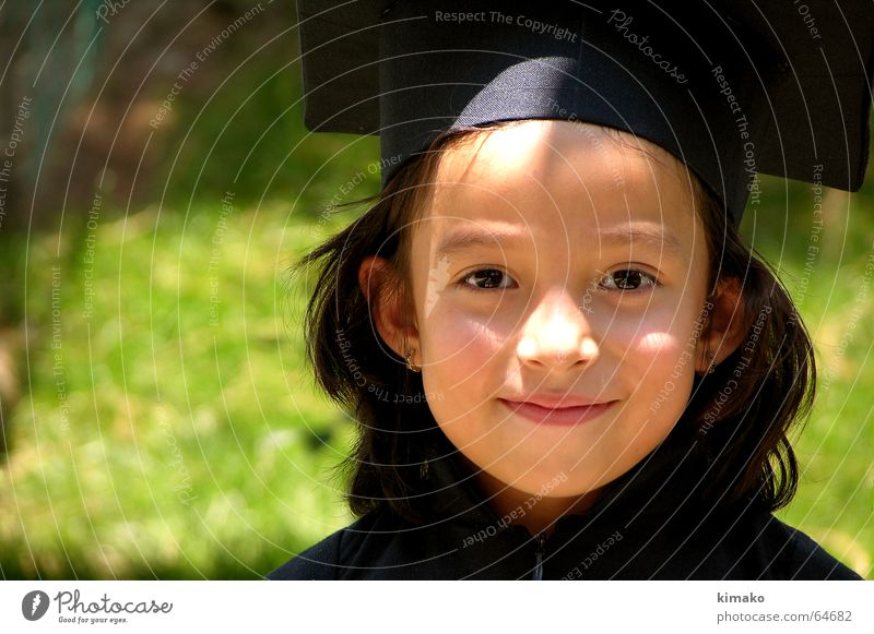 Ximena Girl Green Child graduated School Happy Professional training Eyes Face high school education