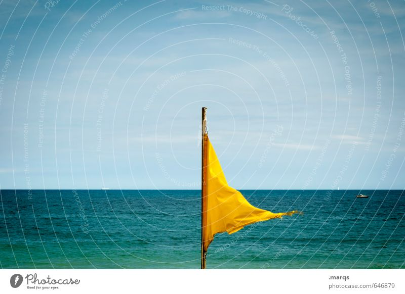 Sky Nature Vacation & Travel Beautiful Colour Water Summer Ocean Relaxation Calm Far-off places Yellow Freedom Horizon Wind Tourism