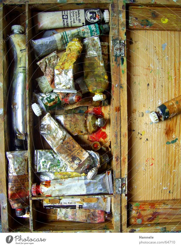 Old Colour Wood Art Painting and drawing (object) Oil London Underground Second-hand Projection screen Oil paint Paintbox