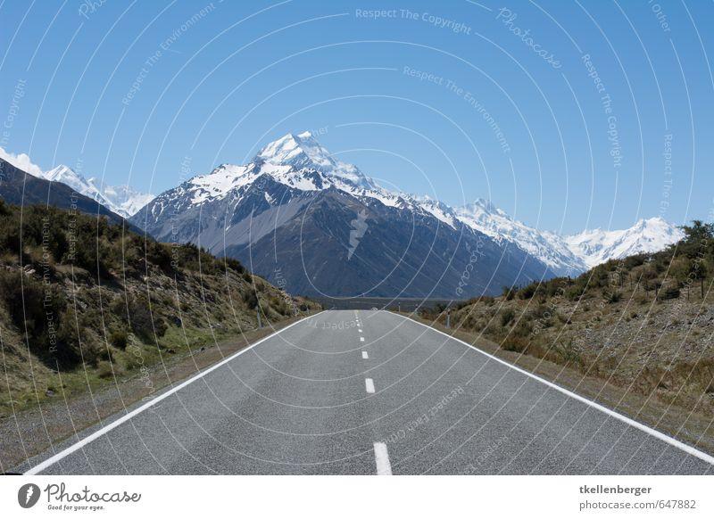 Mount Cook New Zealand X Alps Mountain Mount Cook National Park Mount Cook glacier Glacier Climbing Peak Snowcapped peak Hiking Street Highway