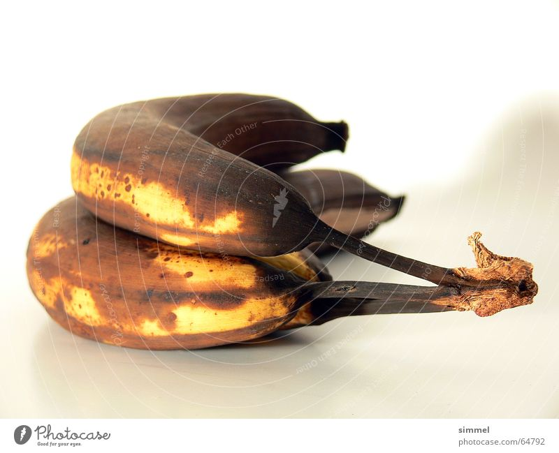 All banana? Banana Putrefy Transience Yellow Brown Black Putrid Old Inedible In pairs Limp