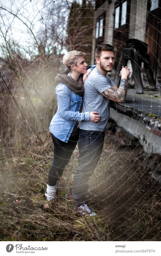 SECOND Masculine Feminine Young woman Youth (Young adults) Young man Friendship Couple 2 Human being 18 - 30 years Adults Hip & trendy Colour photo