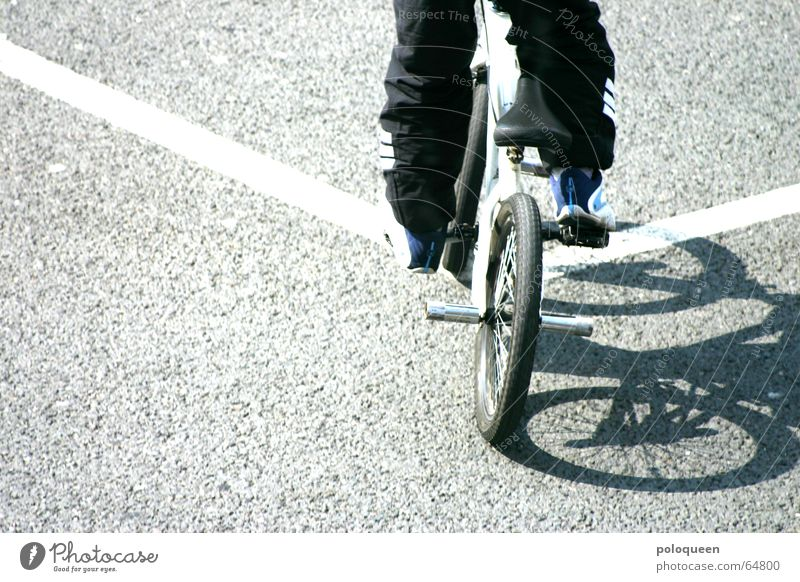 straight out of line Cycling Driving Bicycle Pavement BMX bike Street Line Sun Shadow Lane markings