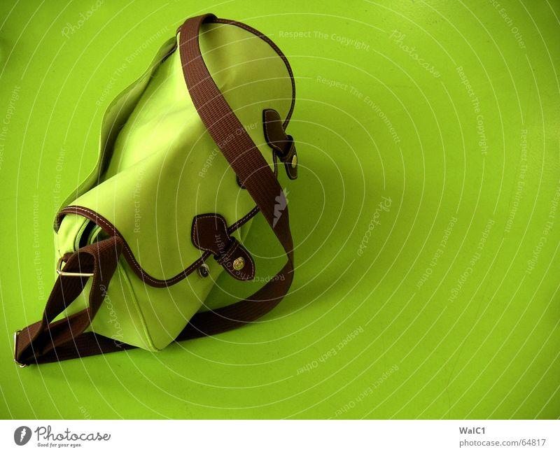 Green Brown Table Bag Handbag Closure