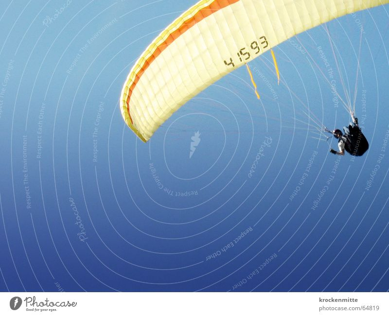 gliding parade Paragliding Paraglider Parachute Air Flying screen Sky Freedom Joy Level Blue Sports
