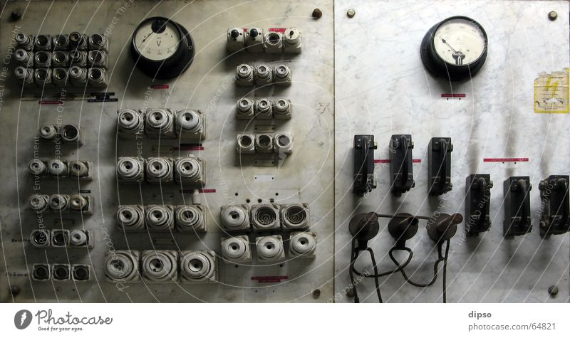 Old Energy industry Electricity Historic Switch Collateralization Control desk