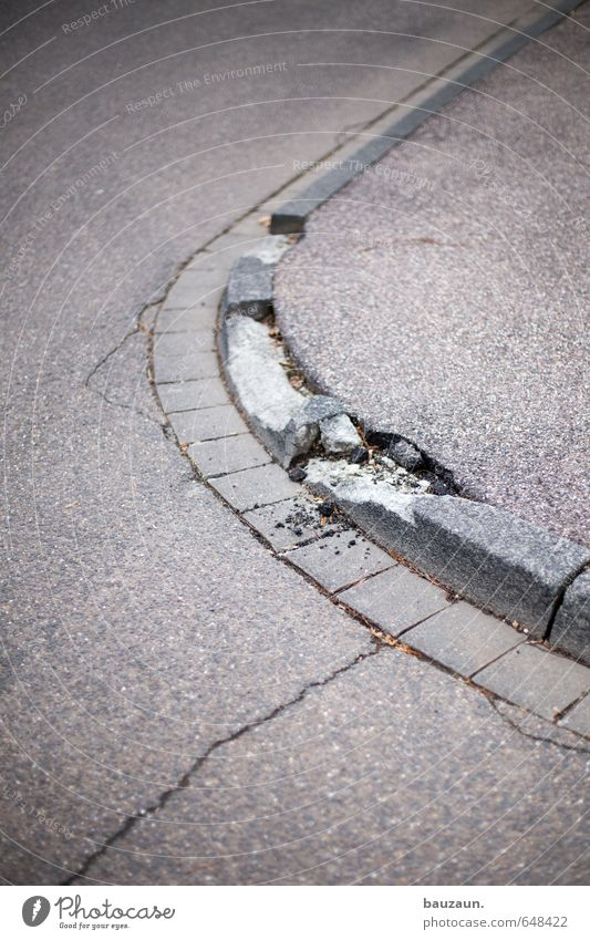 it's not all going well. Town Transport Road traffic Motoring Street Crossroads Lanes & trails Curbside Asphalt Sidewalk Stone Concrete Line Stripe Broken Round