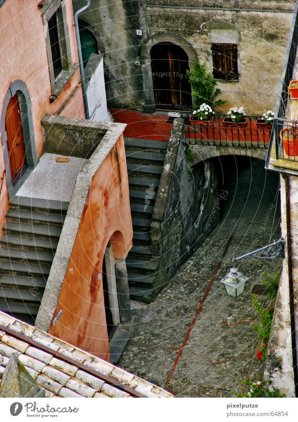 House (Residential Structure) Life Stairs Italy Village Entrance Alley Flair