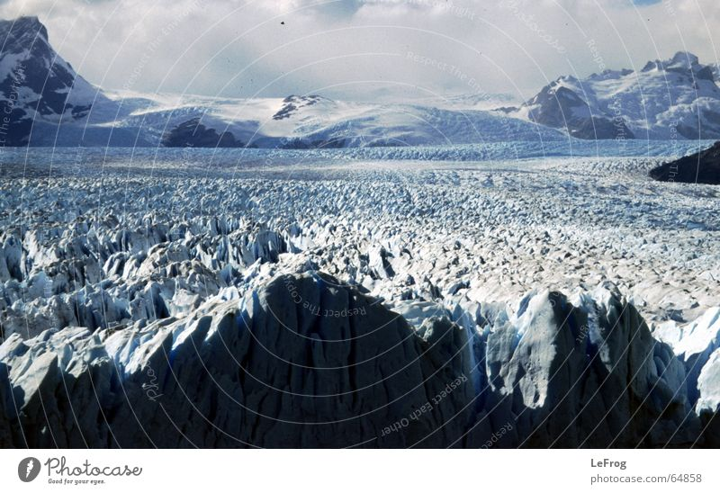Cold Snow Mountain Ice Travel photography Glacier Argentina