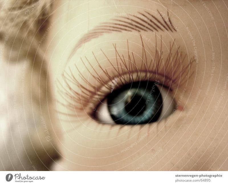 eyelash Doll's eyes Grief Eyelash Dream Eyes Blue Sadness blue eyes lash for a long time Looking digress Eye colour