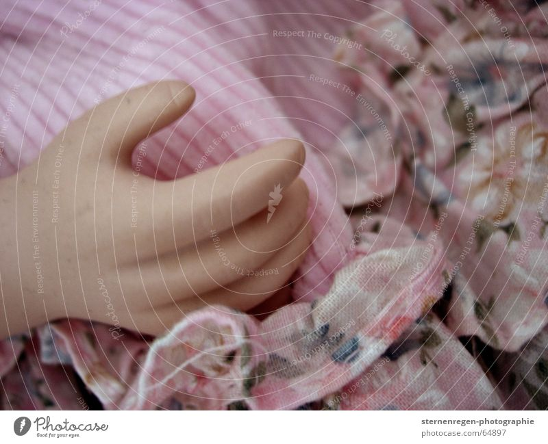 hand China doll Frills Pink Hand Fingers Child Playing Toys Collection Pattern Doll Crockery Death