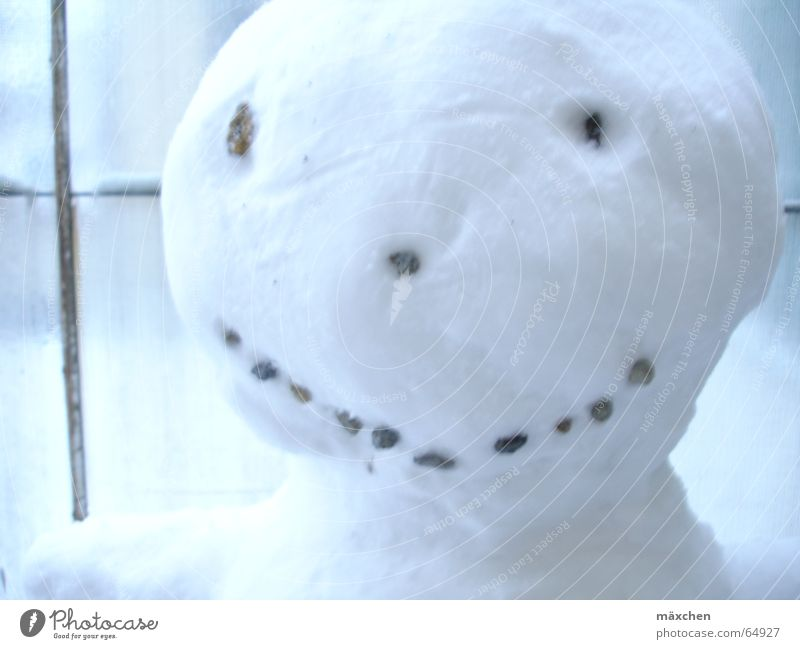 Winter Face Laughter Grinning Snowman