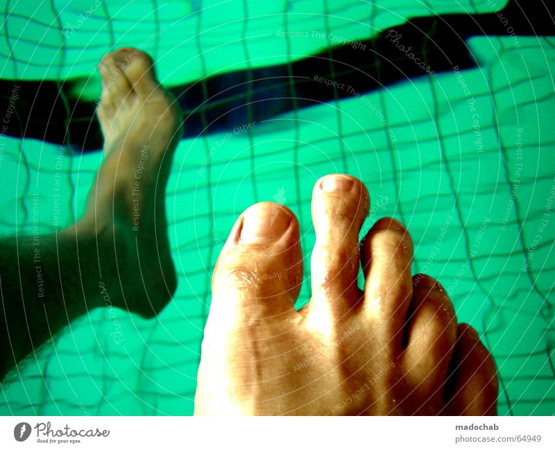 Blue Water Playing Think Legs Dream Feet Fear Swimming & Bathing Wait Sit Fresh Swimming pool Trust Dive Tile