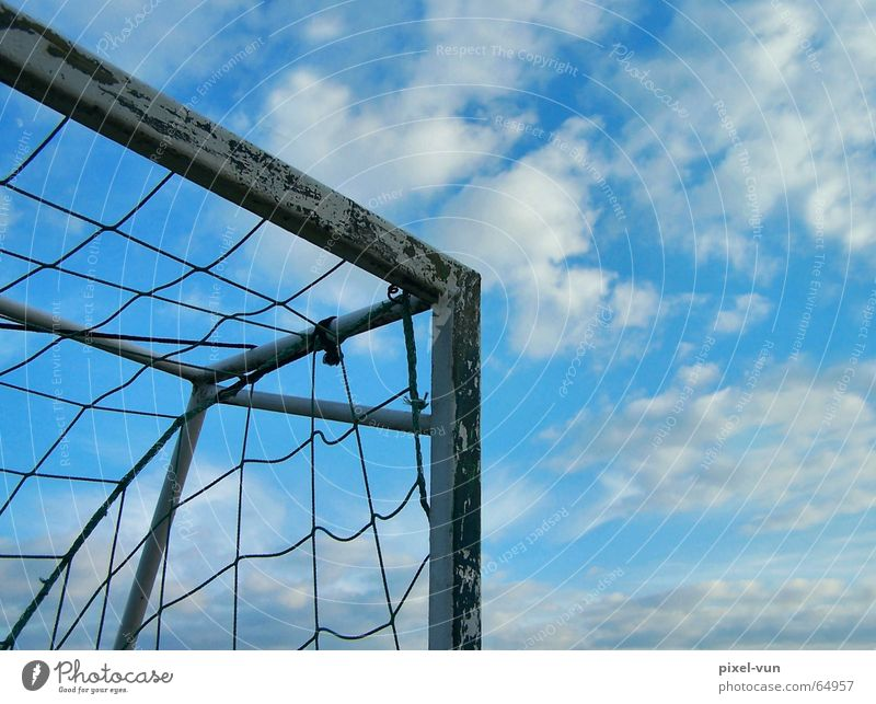 Sky Clouds Sports Germany Success Corner Soccer German Flag Net Gale Corner Goal Sporting event Competition Sportsperson Sky blue