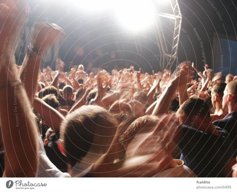 Jumping! Concert Music Group Rock music loud lights blue night