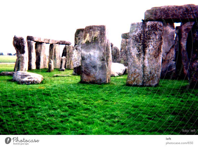 Grass Stone England Stonehenge