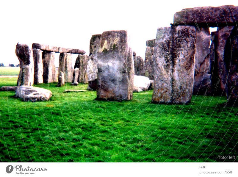 Stonehenge England Grass mysterious megalite