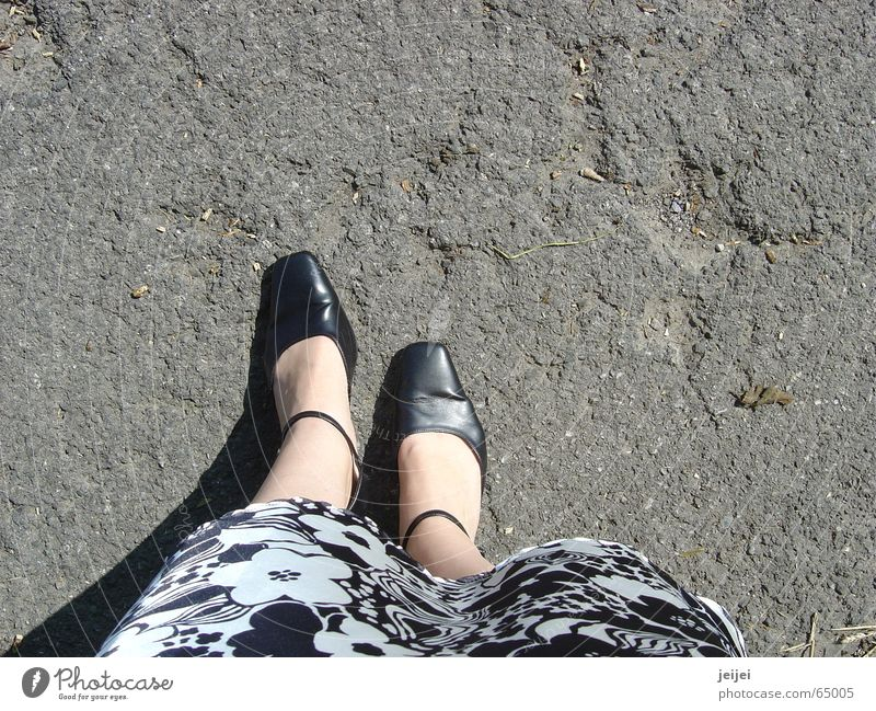 feet Footwear Asphalt Going Stand Black White Under Large Feet skirt Street Stone Lanes & trails To hold on Shadow Hollow Noble Elegant