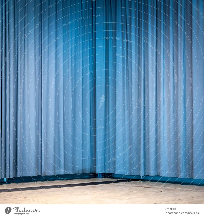 privacy screen Style Design Entertainment Event Stage Culture Drape Simple Blue Colour Curiosity Surprise Colour photo Interior shot Structures and shapes