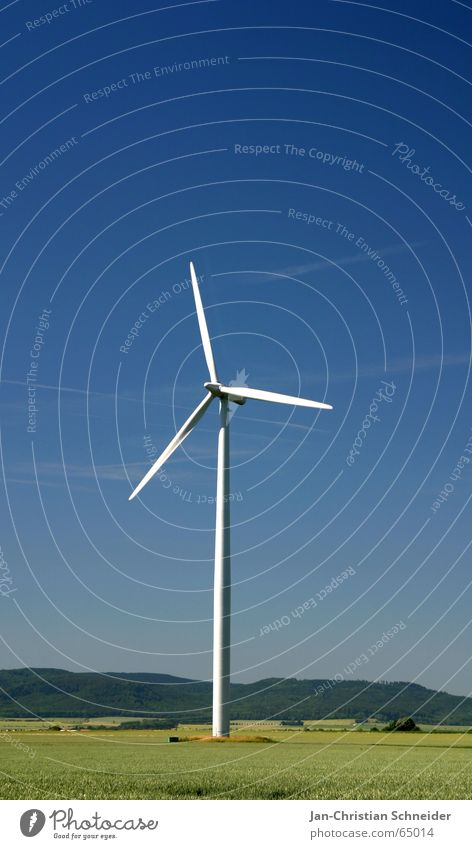 wind power Electricity Ecological Expensive Wind energy plant Air Energy industry Nature Movement Blue Renewable