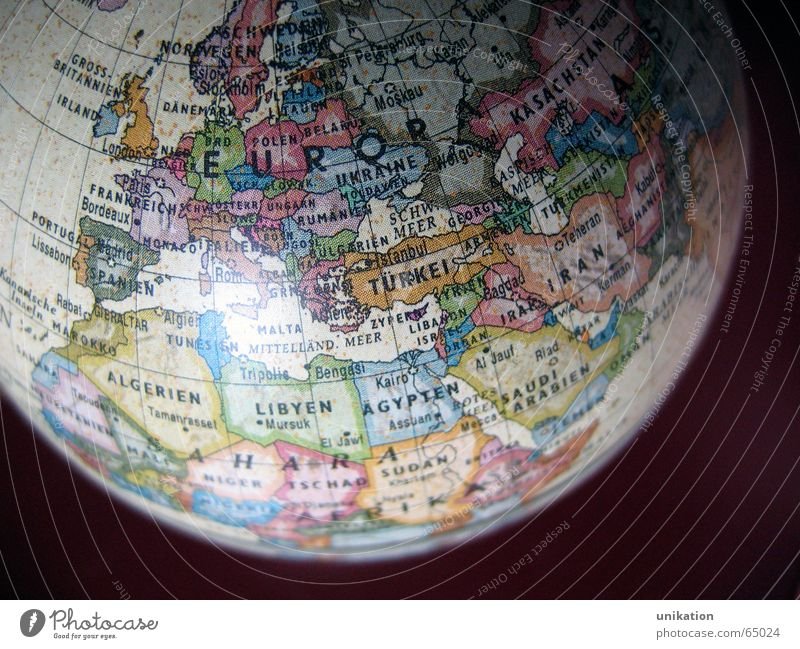 Europe Globe Continents Map of the World Geography Planet Earth Around-the-world trip Americas