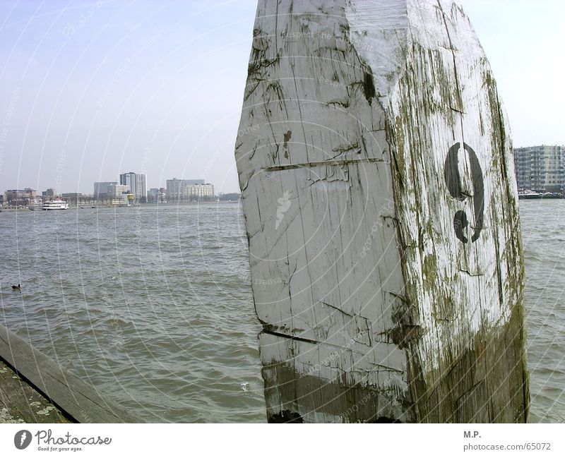 Water Sky White Ocean City Beach Wood Coast River Digits and numbers Typography Pole Netherlands 9 Rotterdam