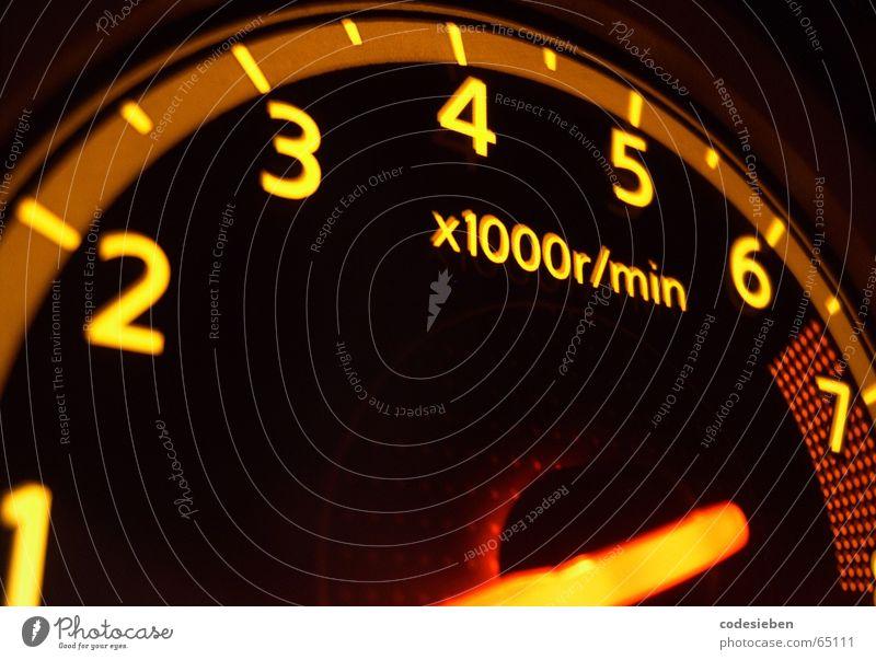 gas Electrical equipment Top speed Speed Speedometer Yellow Long exposure Car Electronics Rev counter high-speed flutsch sssccchhwwuuuuusch