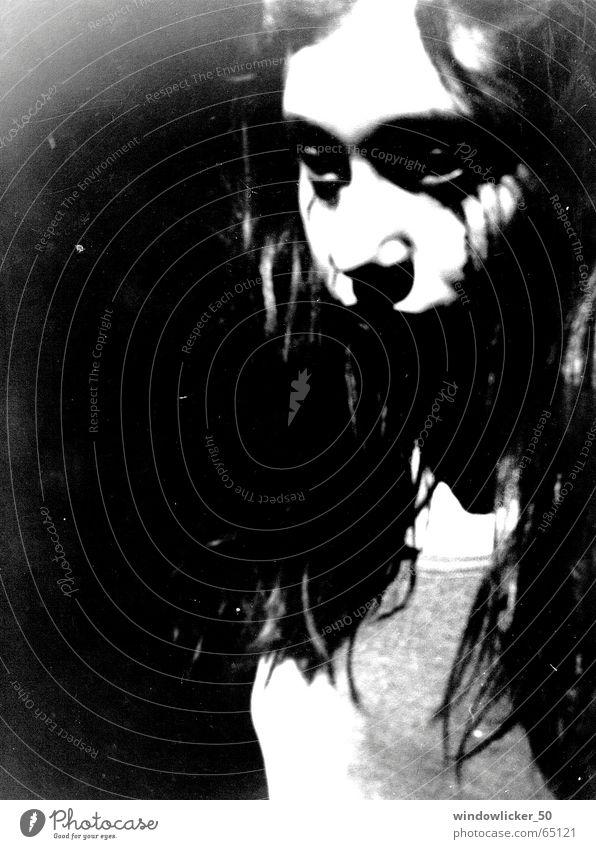 no title dark twilight scene ghost phantasm spirit sad dreary blue sadness w&b fear