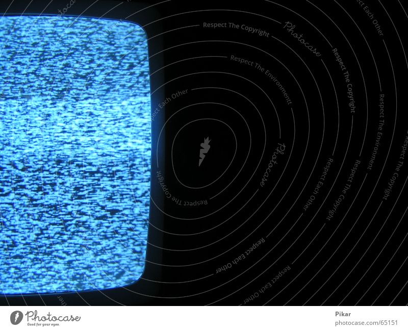 Blue White Black Dark Cold Bright Broken Media Near TV set Television Equipment Sewer Hissing Disturbed