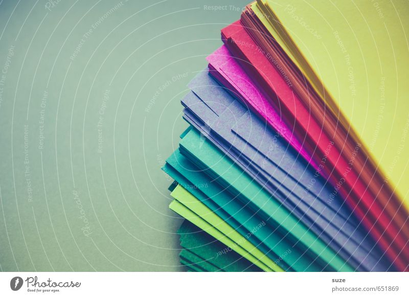 paper worlds Style Design Leisure and hobbies Playing Handicraft Office work Business Simple Uniqueness Blue Yellow Green Violet Red Turquoise Stationery Paper