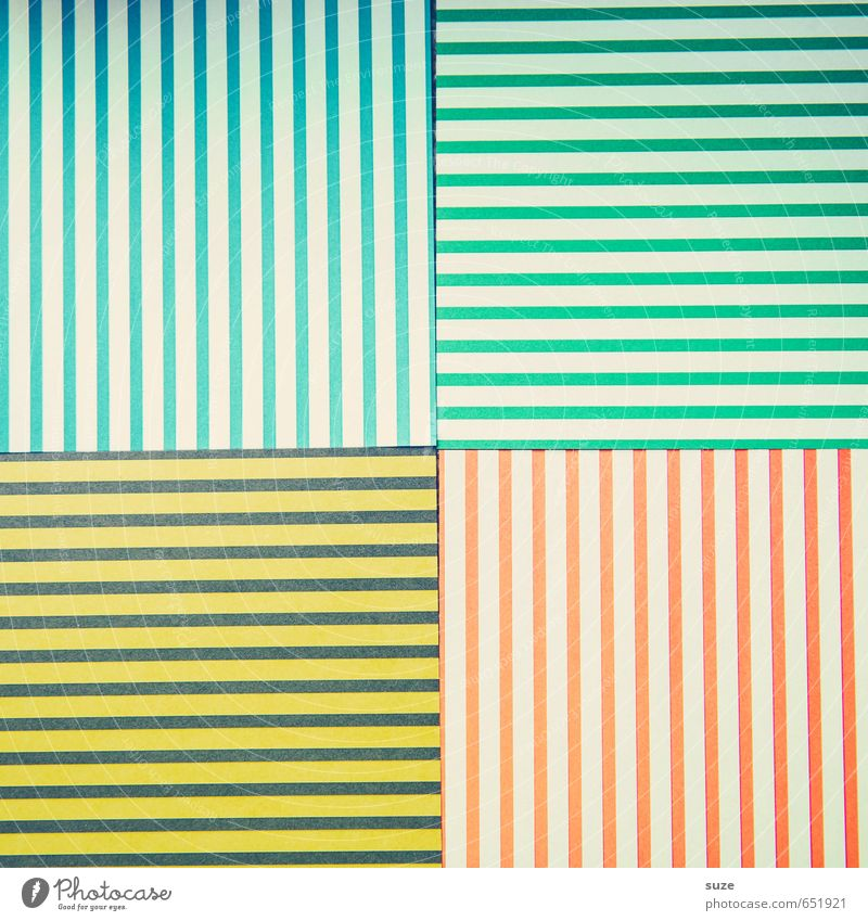 Blue Green Red Yellow Style Art Lifestyle Design Leisure and hobbies Creativity Idea Retro Uniqueness Paper Stripe Illustration