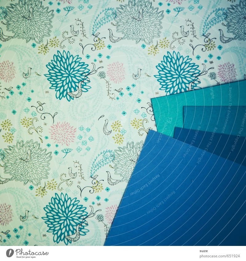 Blue Style Art Feasts & Celebrations Lifestyle Design Leisure and hobbies Birthday Creativity Corner Idea Retro Paper Stripe Illustration Friendliness