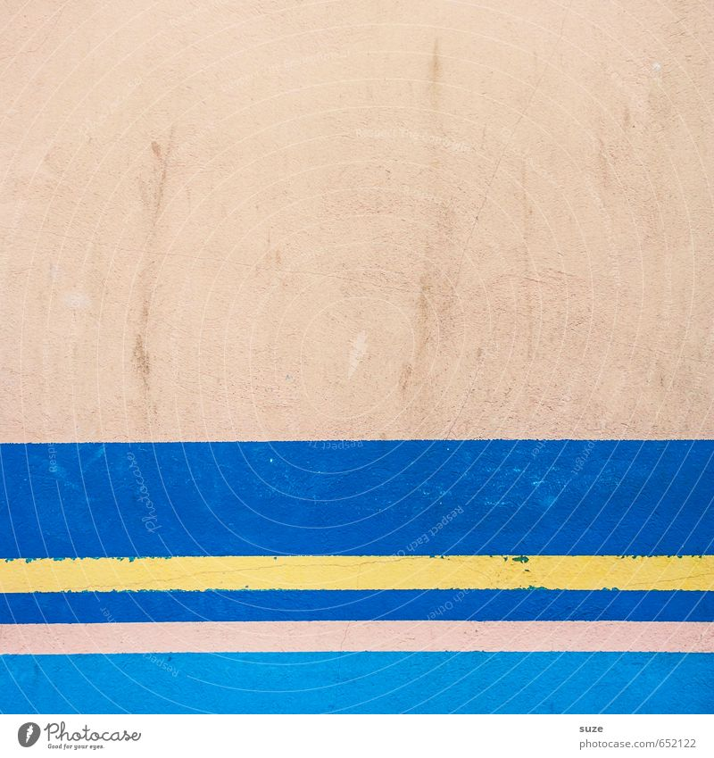 Graphic 1.8 Lifestyle Style Design Art Wall (barrier) Wall (building) Facade Line Stripe Sharp-edged Simple Modern Blue Yellow Pink Creativity Arrangement
