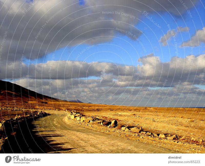Sky Clouds Street Mountain Stone Desert